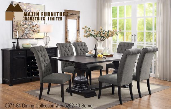 5671 7pc Dining Table Set
