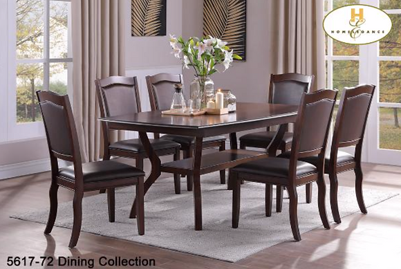 5617 7pc Dining Table Set