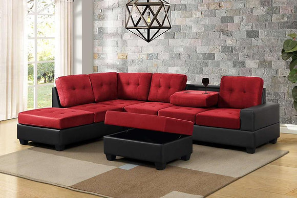 Roma Sectional Sofa With Ottoman