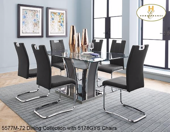 5577 7pc Dining Table Set