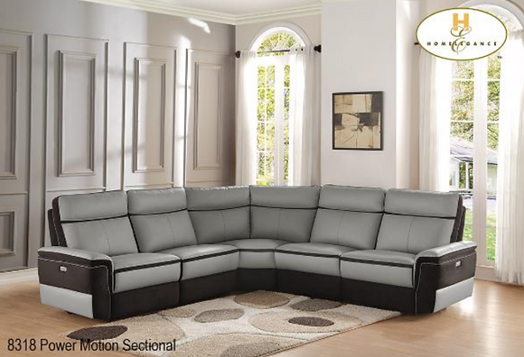 8318 Recliner Sectional