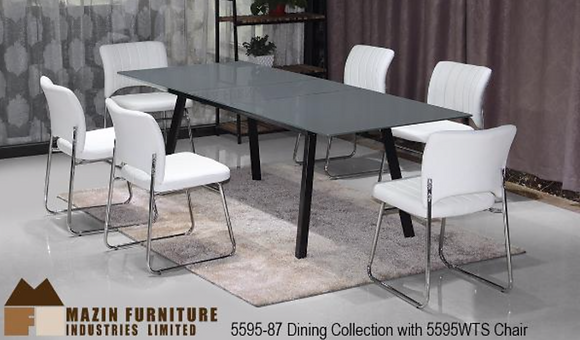 5595 7pc Dining Table Set