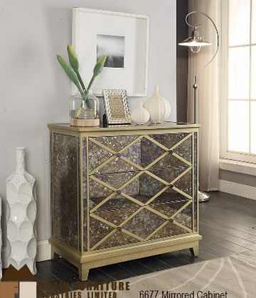 6677 Mirrored Cabinet