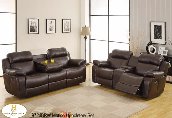 9724 Recliner Sofa Set