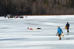 Ice Fishing on Half Moon Pond, Washington NH