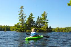 Kayaker On Island Pond, Washington NH