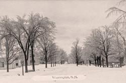 Snowy View of Main Street, Washington NH