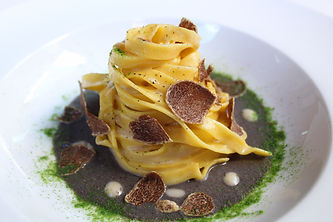 Tagliatelle with wild mushrooms and whit