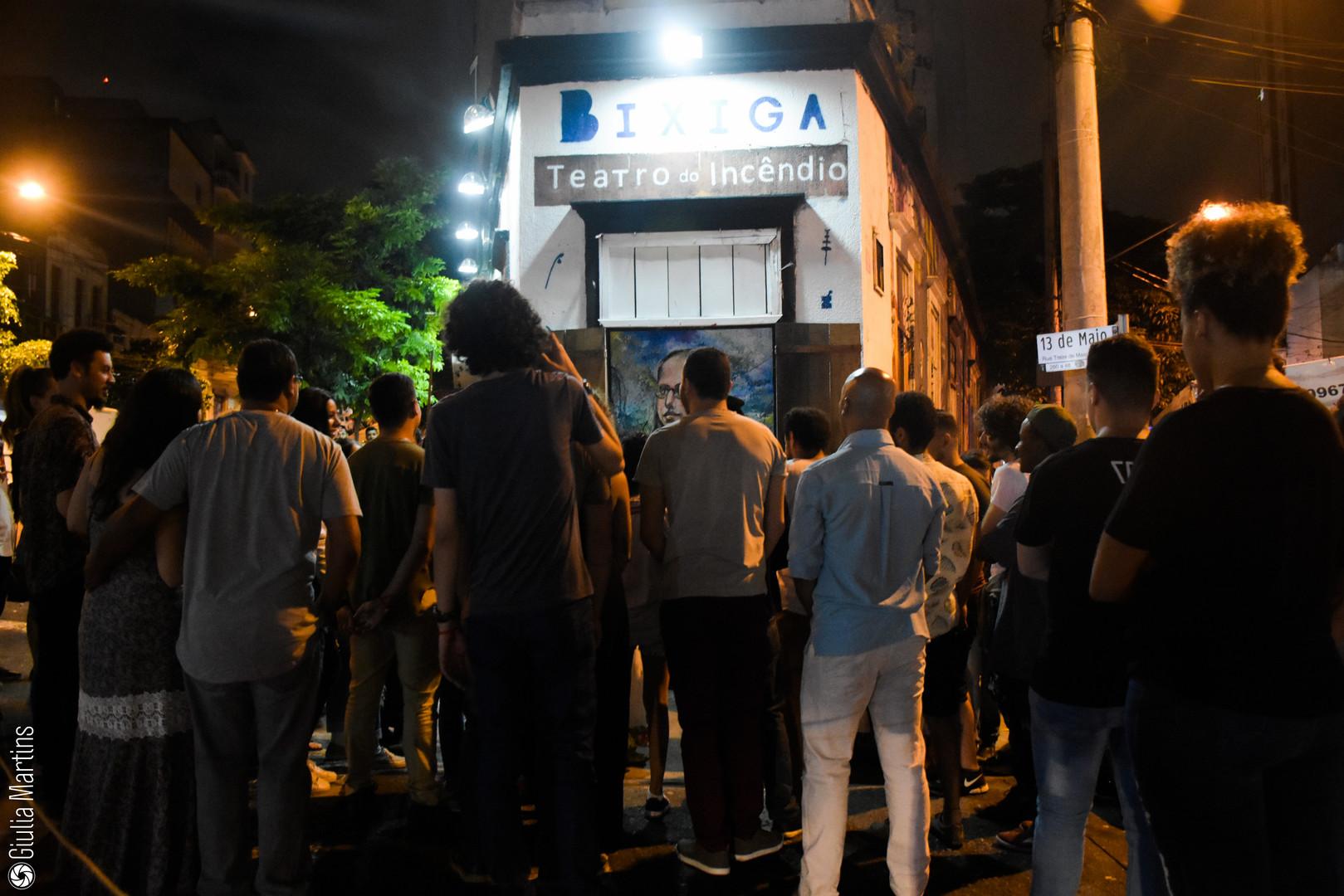 Ocupação da rua - Espetáculo Rebelião -
