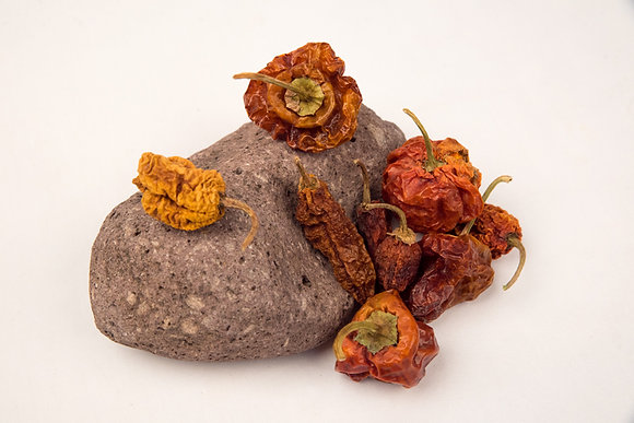World's Hottest Heirloom Peppers - Dried