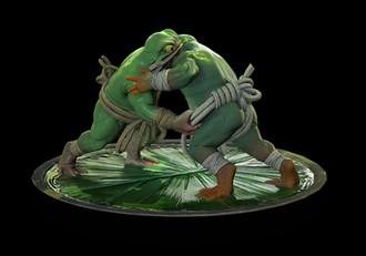 Ozumo frogs