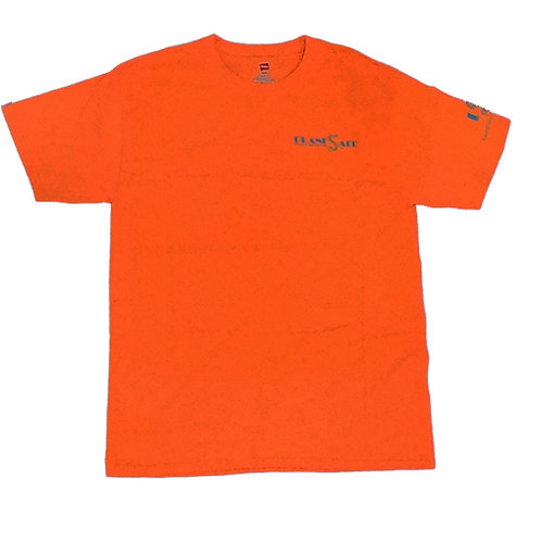 Men's Blaze Orange Shirt with Silver Logo