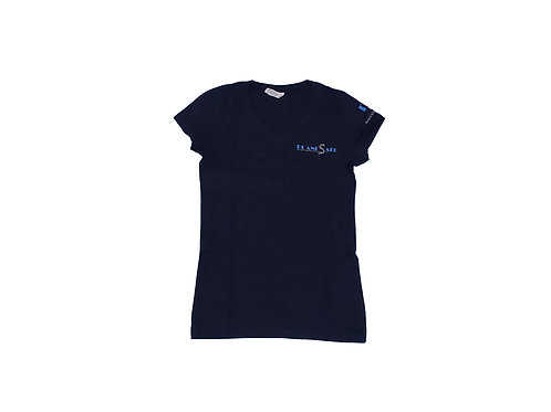 Women's Navy Blue Shirt with Silver Logo
