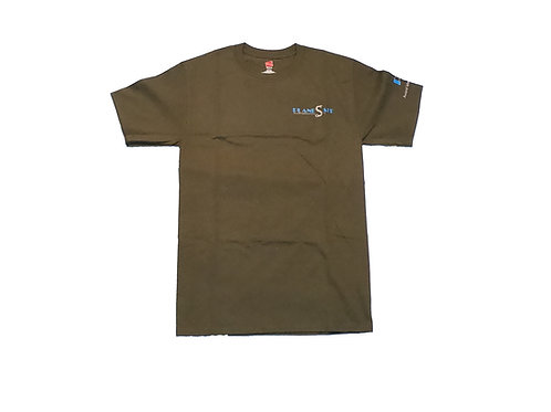 Men's Military Green Shirt with Silver Logo