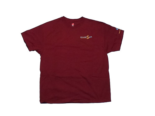 Men's Maroon Shirt with Gold Logo