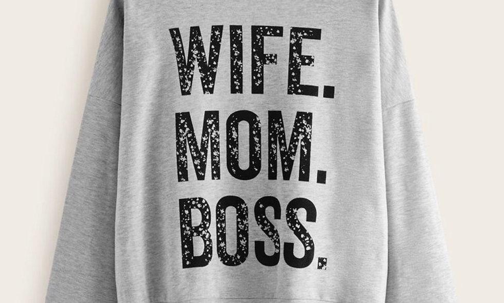 Wife Mom Boss Sweater