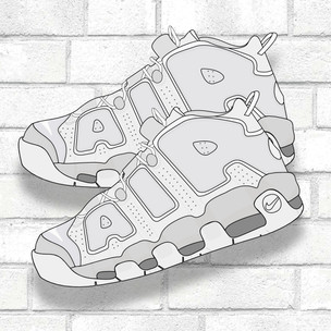 Nike Uptempo Illustration
