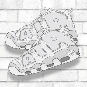 Nike Uptempo Illustration