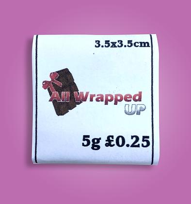 5g Personalised Chocolates (minimum order 10 bars)