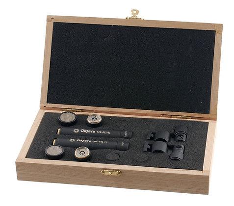 Октава МК-012-01 (чёрный) стереопара в деревянном футляре