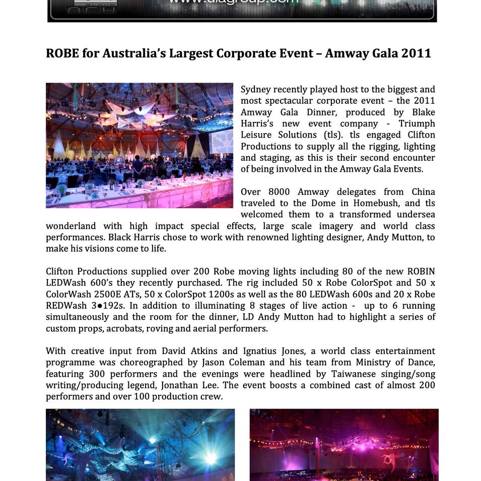 Amway China Gala Dinner 2011