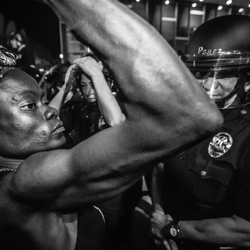 Los Angeles, Usa 2014 Black Lives Matter (BLM) is an international activist movement, originating in the African-American community, that campaigns against violence and systemic racism towards black people. BLM regularly holds protests speaking out against police killings of black people, and broader issues such as racial profiling, police brutality, and racial inequality in the United States criminal justice system.