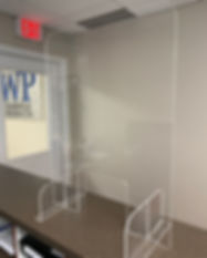 OFFICE PARTITION, CONFERENCE ROOM PARTITION, SNEEZE GUARD, ACRYLIC, COVID-19, CORONAVIRUS SHIELD