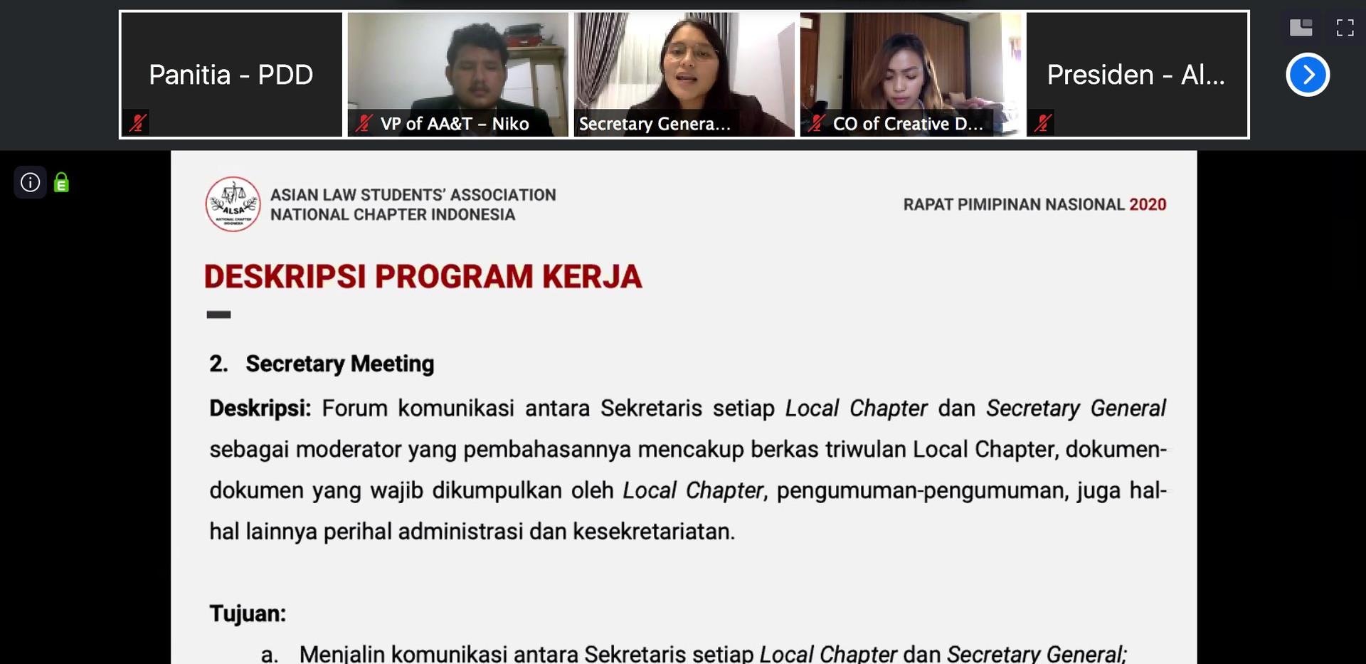 Presentasi Secretary General
