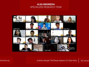 AISRT : Audiensi Tim Serap Undang-Undang Cipta Kerja