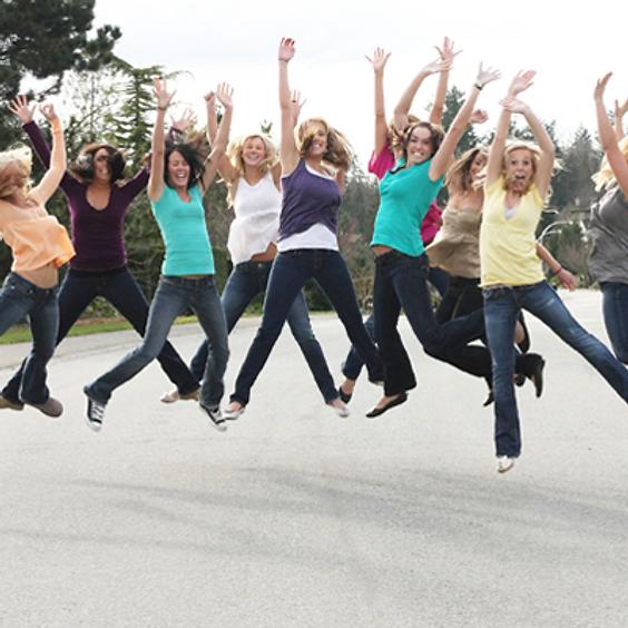 Gathering Ladies in Jeans