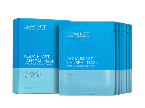 Aqua Blast Lanseal Mask: Hydrating & Smoothing (10 ea)