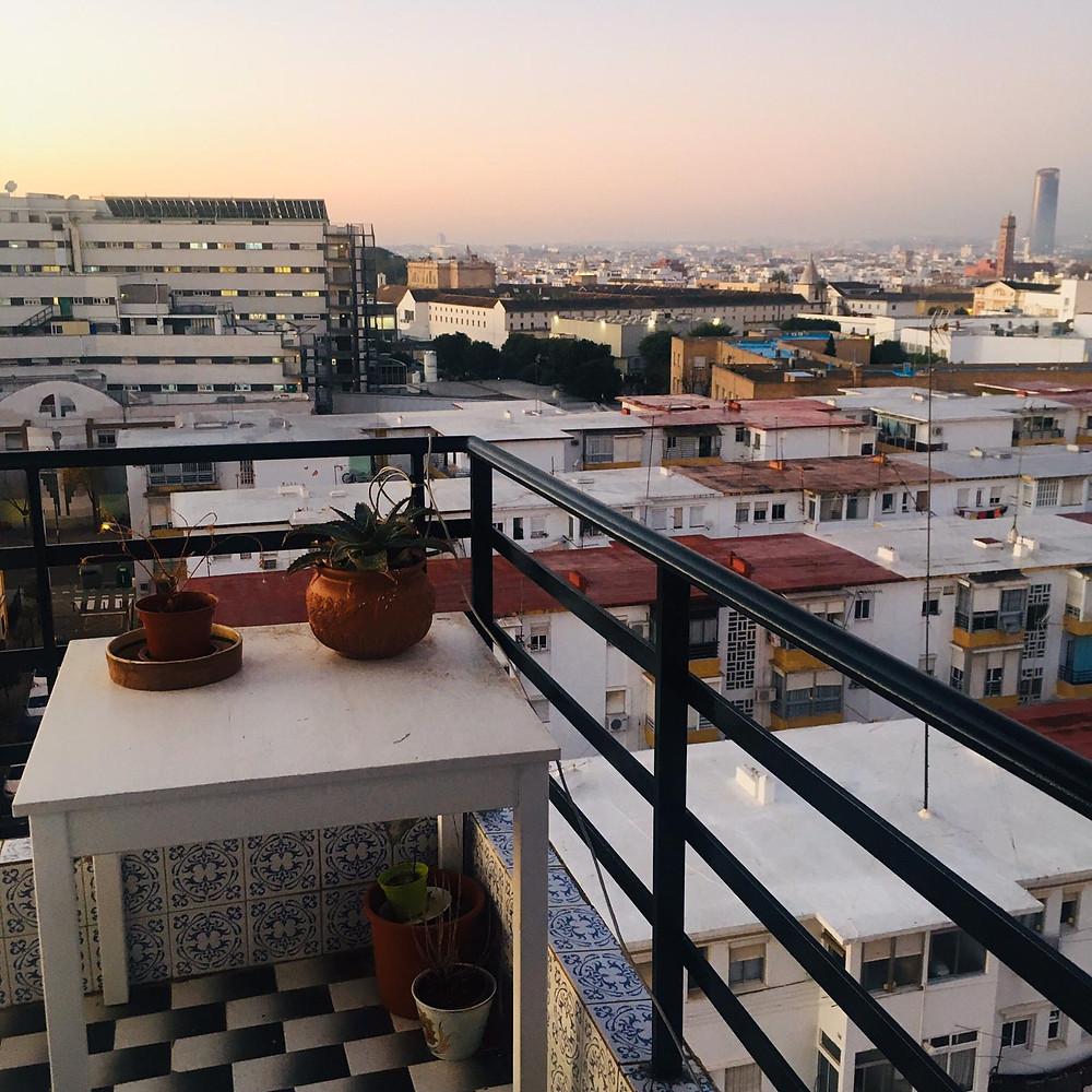 View from my flat's balcony/ Photo courtesy of Callum