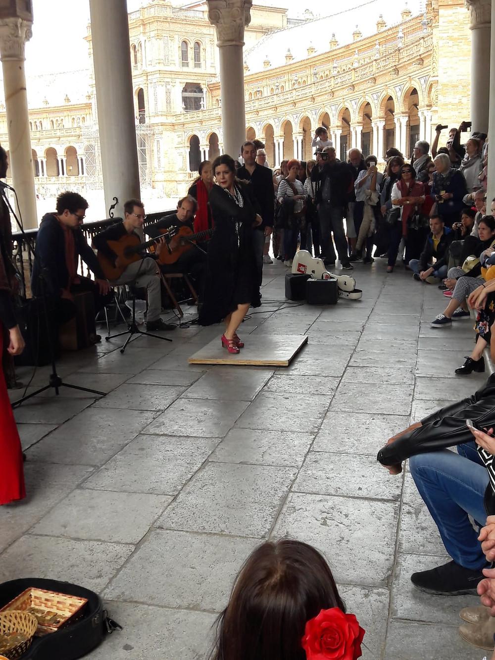 Flamenco at the Plaza de España