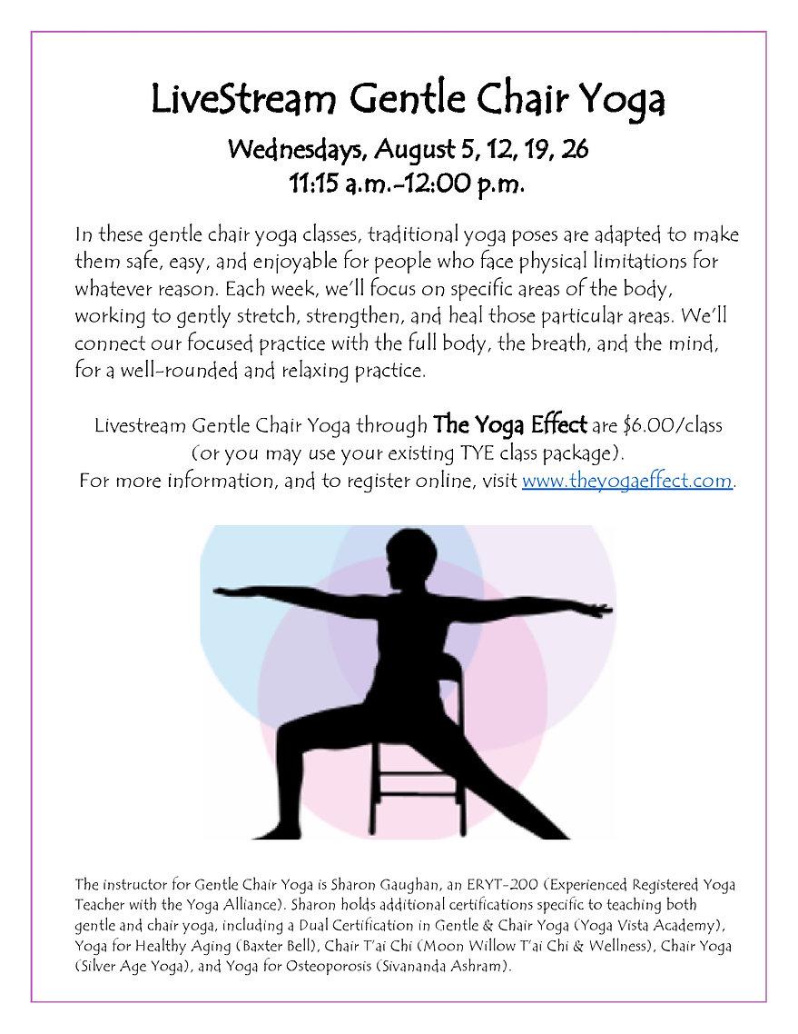 TYE Online Gentle Chair Yoga (Revised fo