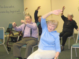 Gentle Chair Yoga at Spring Meadows Assisted Living in Libertyville