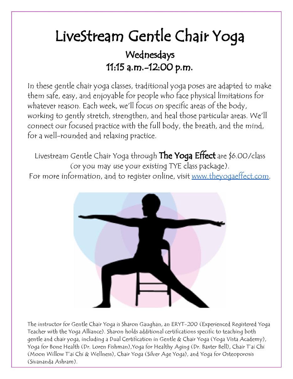 TYE Online Gentle Chair Yoga (Revised De