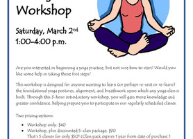 """My First """"Intro to Yoga"""" Workshop a Success!"""