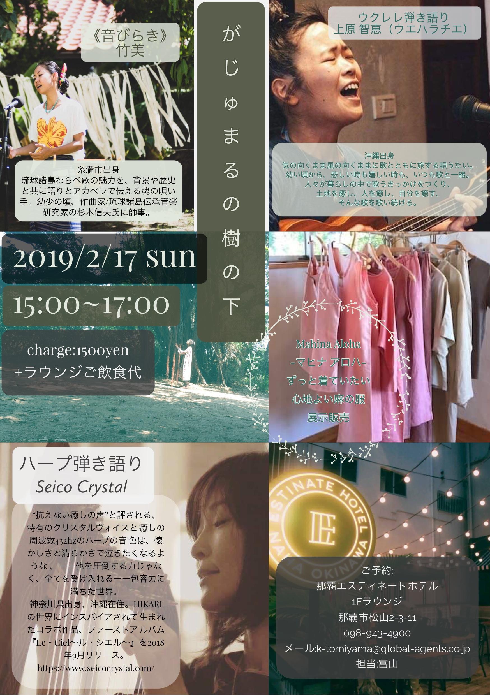 2019/2/17『がじゅまるの樹の下』