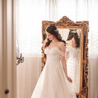 השמלה של קרן בעיצובה של מעצבת שמלות הכלה