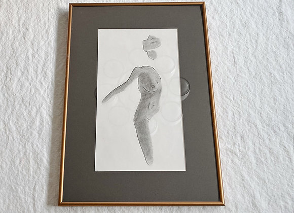 Framed Female Sketch #1