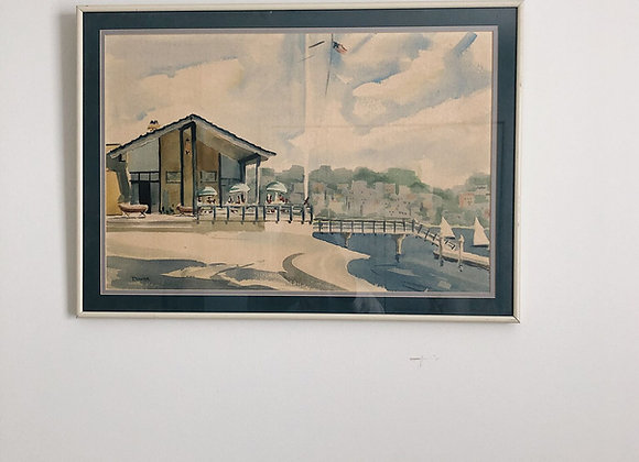 Mid Century Watercolor - Original - Signed