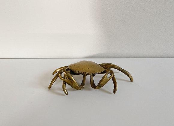 Vintage Brass Crab Hinged Box