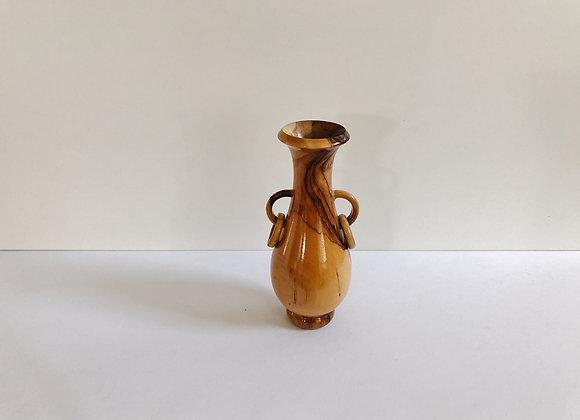 Vintage MCM Wood Vase