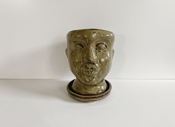 Ceramic Face Planter Pot