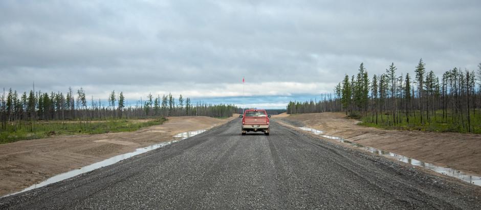 La route des Tłı̨chǫs devrait ouvrir à l'automne 2021
