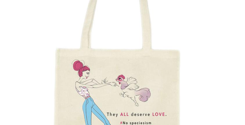 """No speciesism 2"" tote bag"