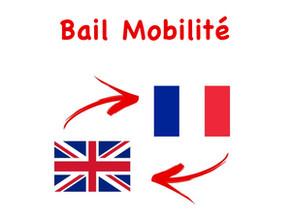 Bail Mobilité: traduction Anglaise obligatoire ou pas ?