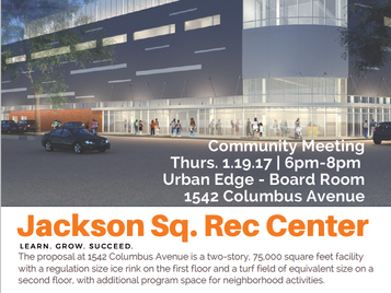 Jackson Sq. Rec Center Community Meeting