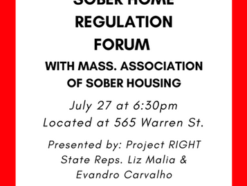 Sober Home Regulation Forum