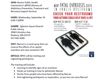 Learn How to Save A Life: Community-Wide Overdose Prevention Training